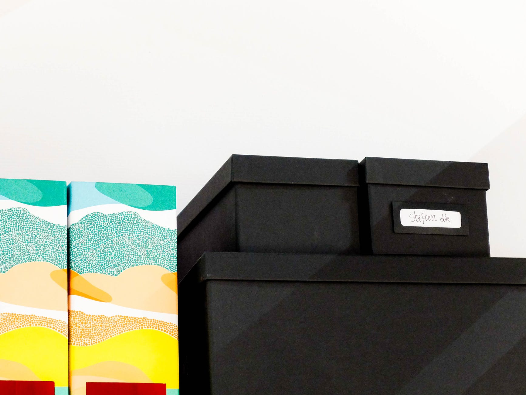 different storage boxes