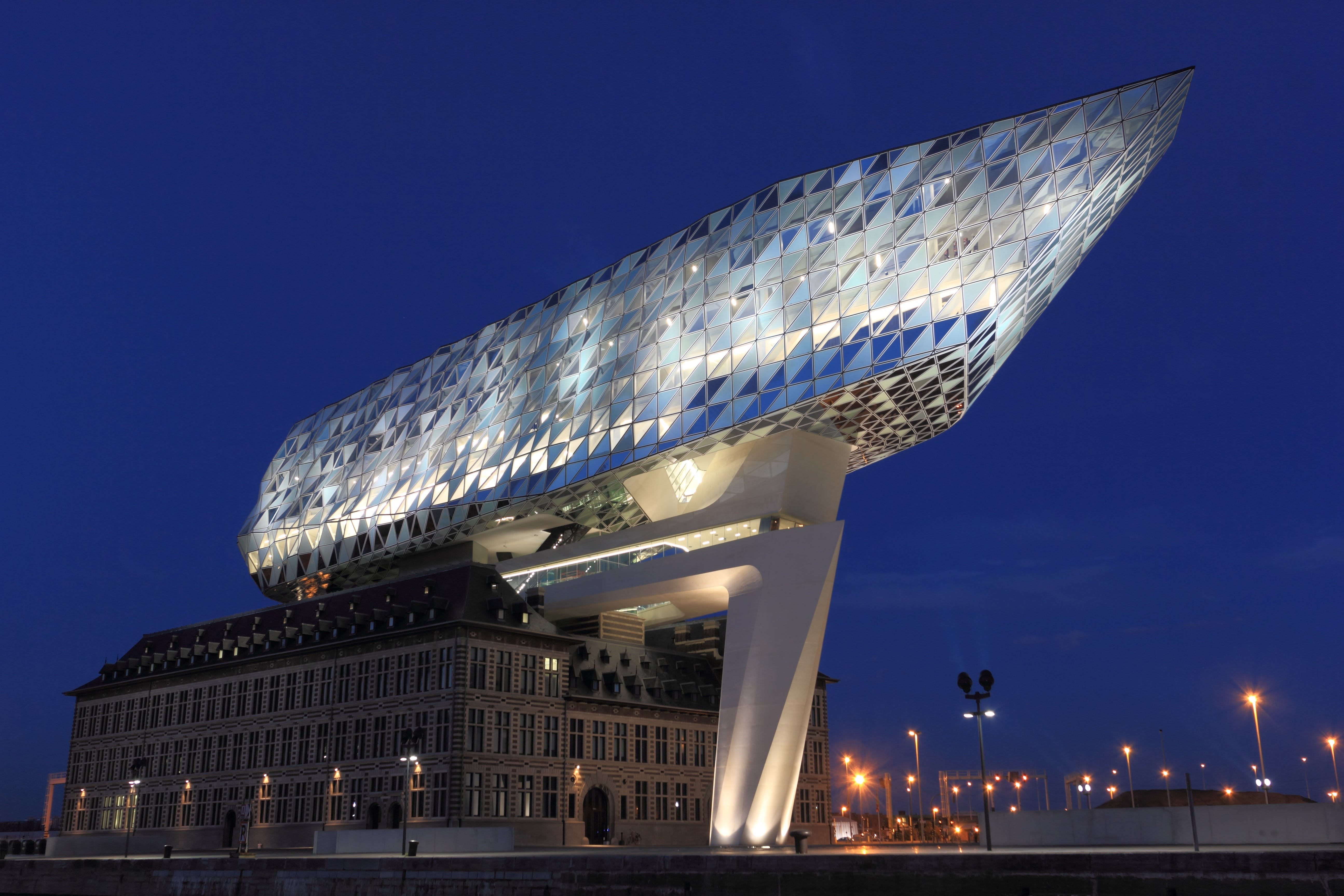 Low Angle Photo of Lighted Glass Building