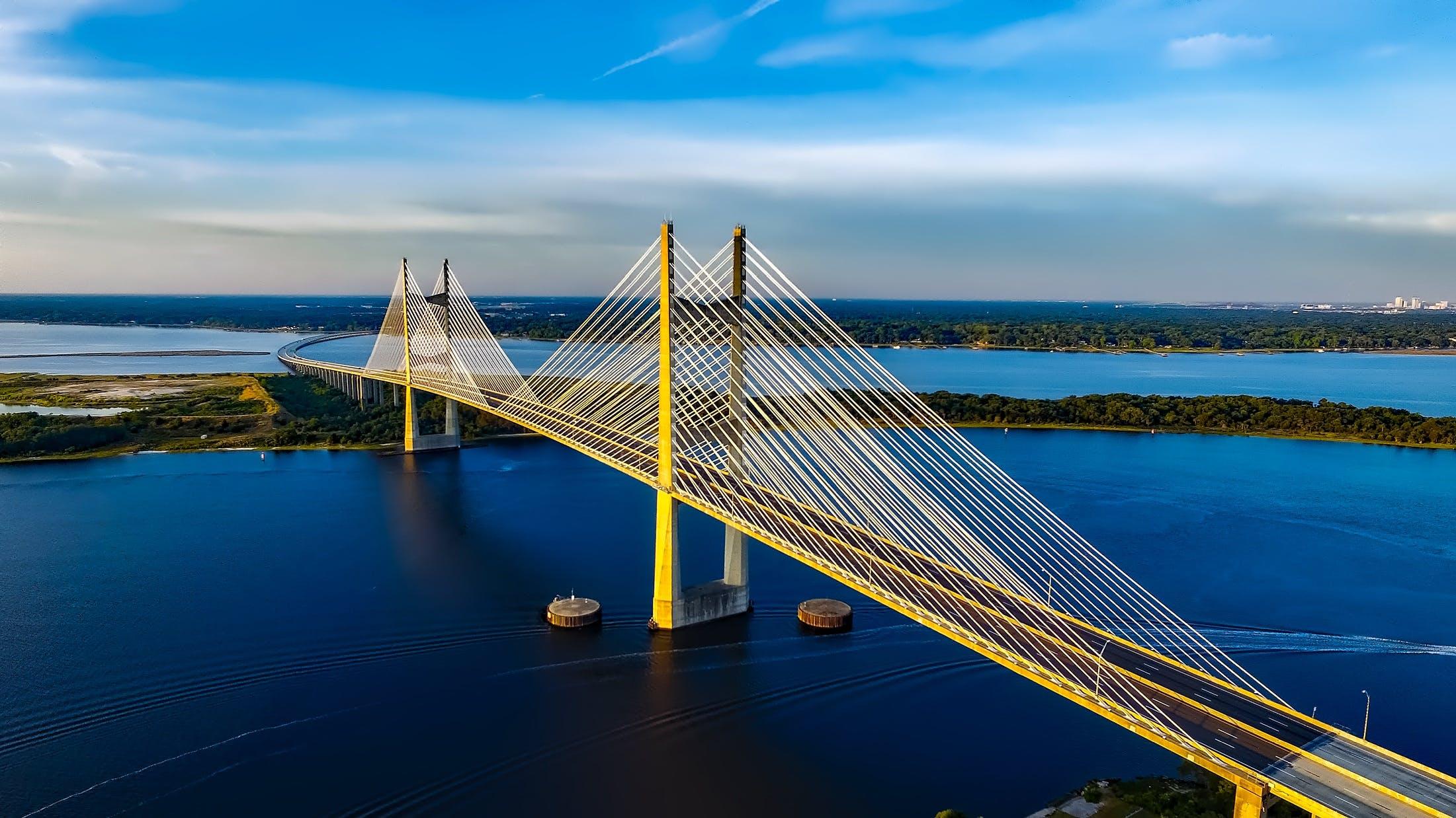 Безкоштовне стокове фото на тему «dames point міст, HDR, st johns river, архітектура»