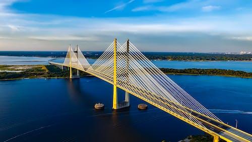 Immagine gratuita di acqua, architettura, baia, dama point bridge