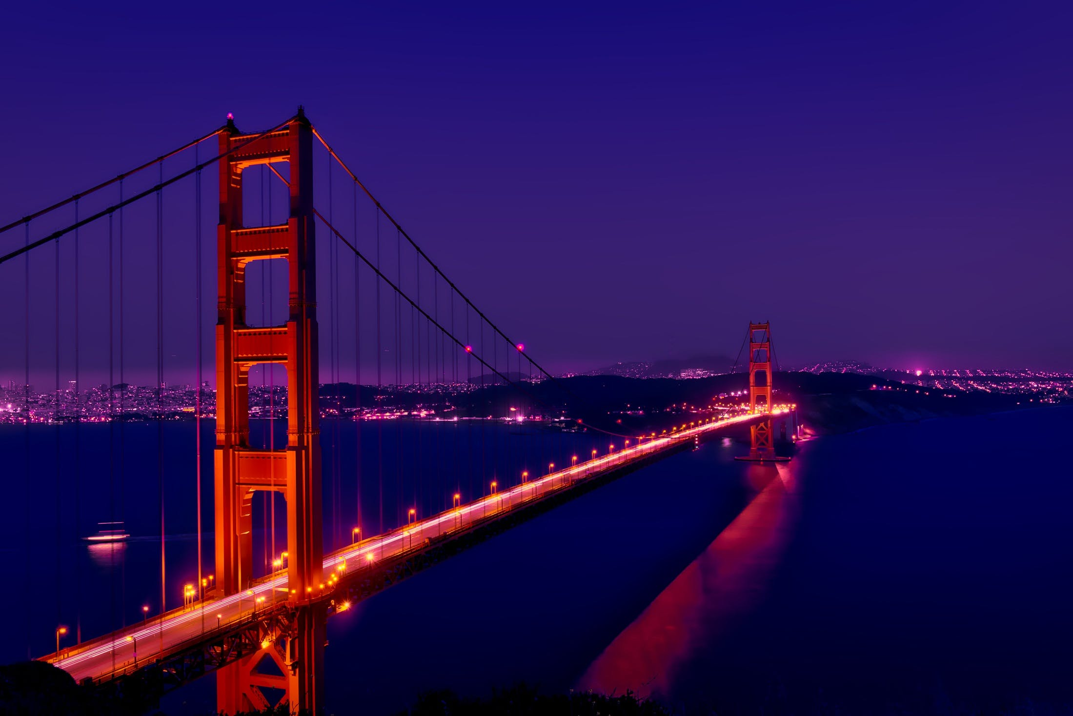 Architectural Photography of Golden Gate Bridge, San Francisco Usa during Nighttime