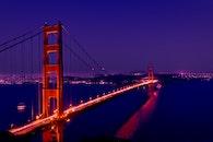landmark, lights, night