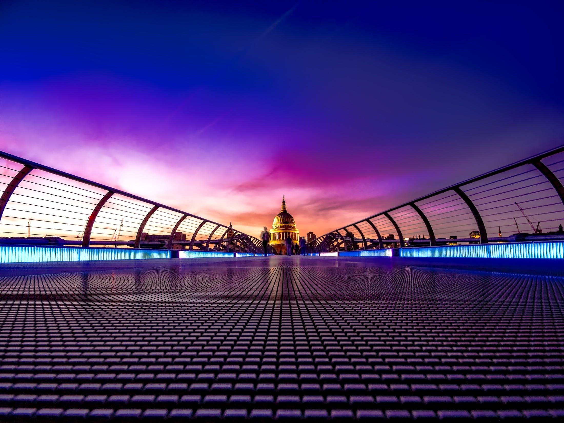 Purple Foot Bridge