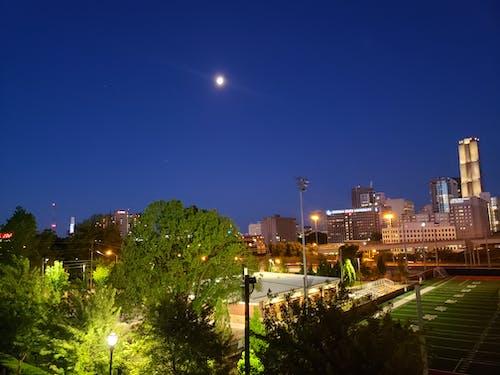 ay, Dolunay, Mavi gökyüzü, sabah içeren Ücretsiz stok fotoğraf