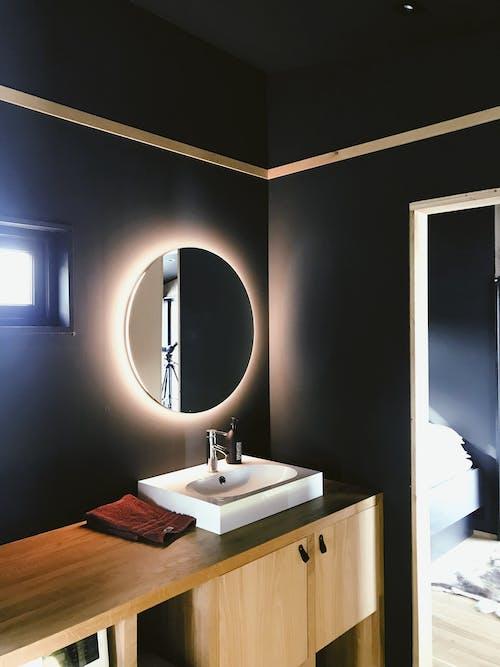 Gratis lagerfoto af badeværelse, design, disk, håndvask