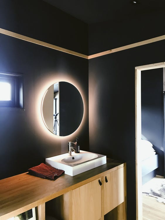 Modern Halo Mirror Lighting