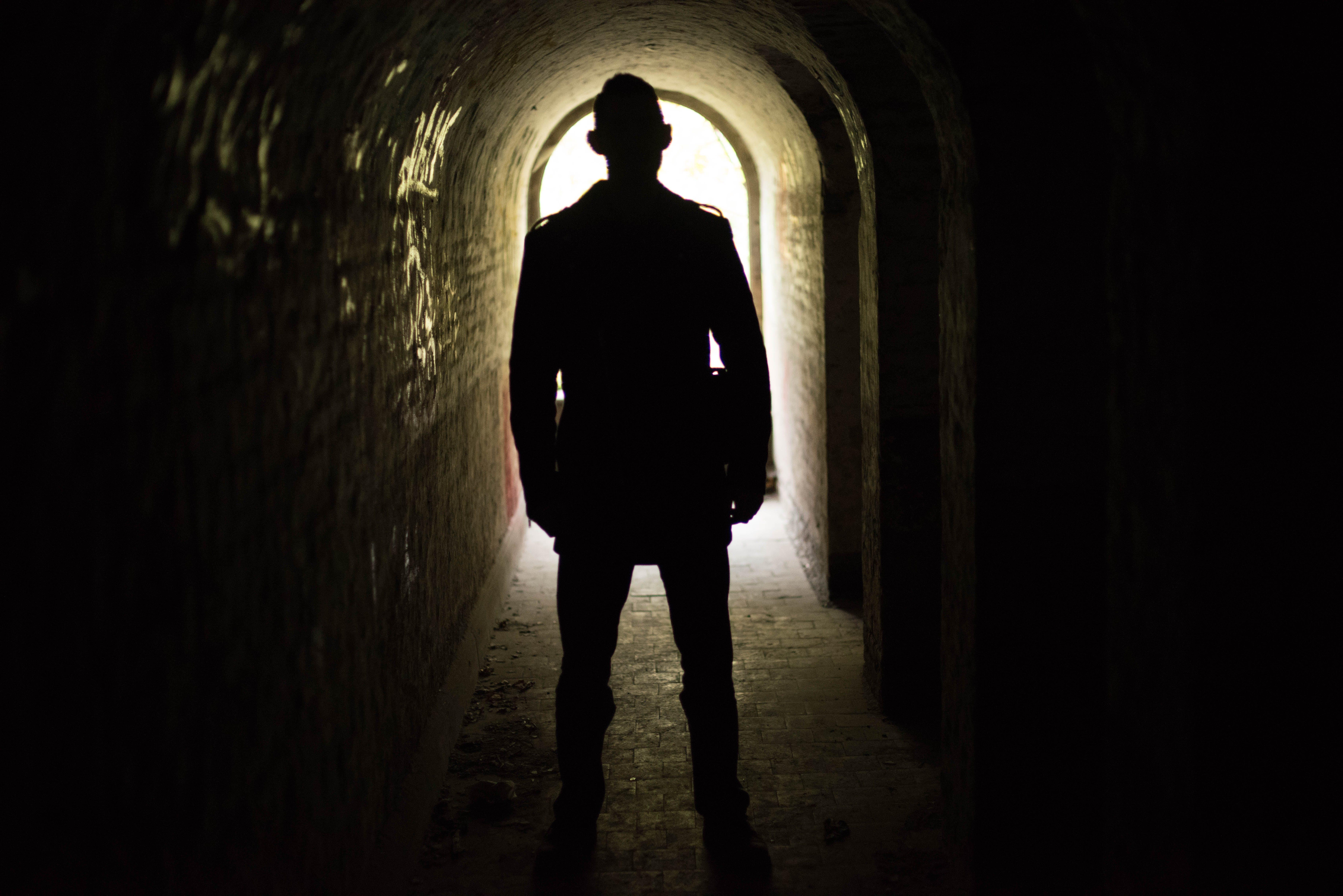 Free stock photo of light, man, person, dark