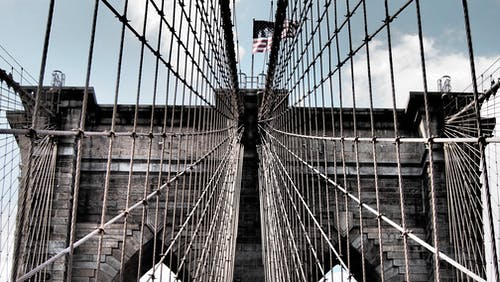 Gratis arkivbilde med arkitektur, bro, brooklyn bridge, new york
