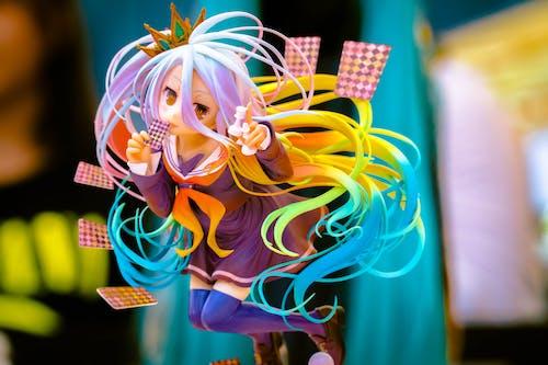 #소녀, 다채로운, 동상, 만화 주인공의 무료 스톡 사진