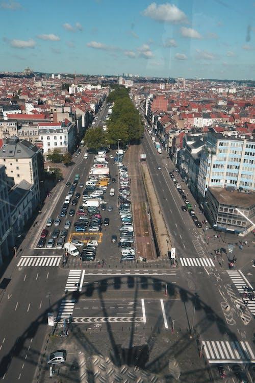 Gratis lagerfoto af antenne, Belgien, bruxelles, bymidte