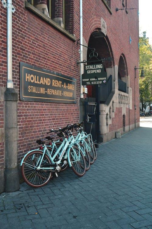 Gratis lagerfoto af Amsterdam, blå, bymidte, cykel