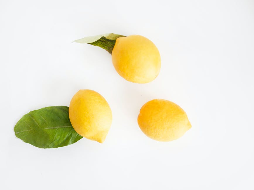Top view photo of lemons