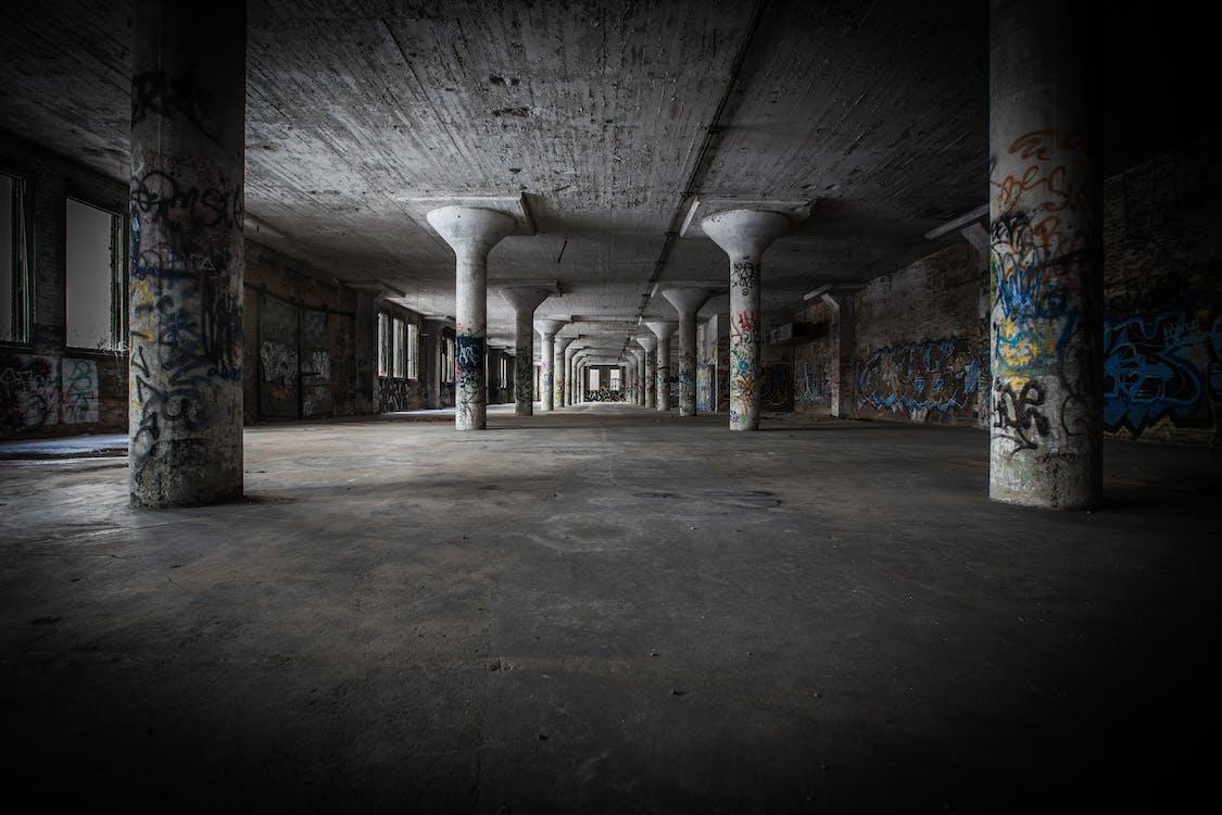abandonat, arquitectura, buit