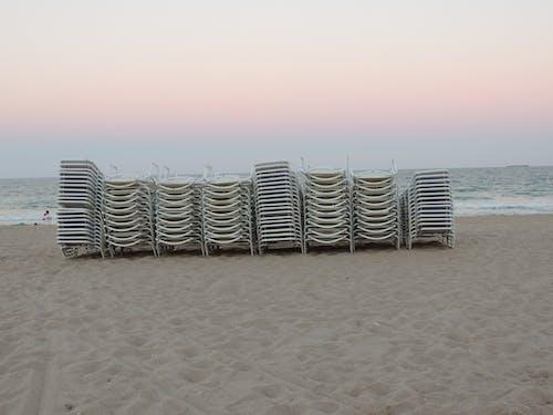 Foto profissional grátis de cadeira de praia, cadeiras de praia, Flórida, litoral