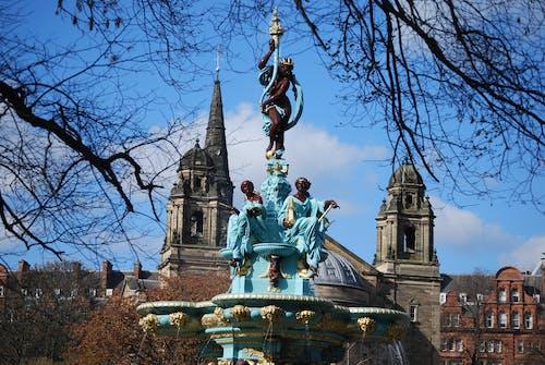 噴泉, 愛丁堡, 雕像 的 免费素材照片