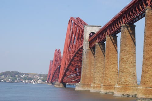 railbridge, 扶手, 橋, 海 的 免费素材照片