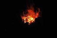 dark, firewood, fire