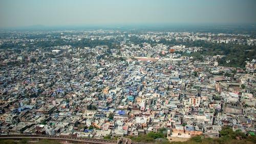 Fotobanka sbezplatnými fotkami na tému arial, indický, mesto, obloha