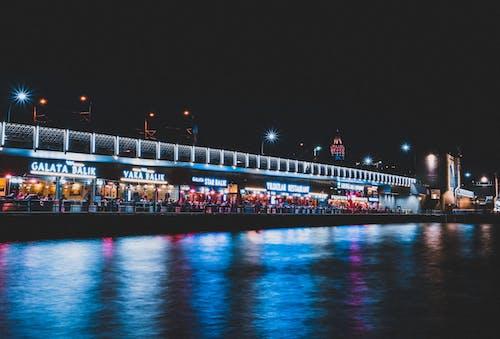 商業, 城市, 城市的燈光, 夜燈 的 免费素材照片