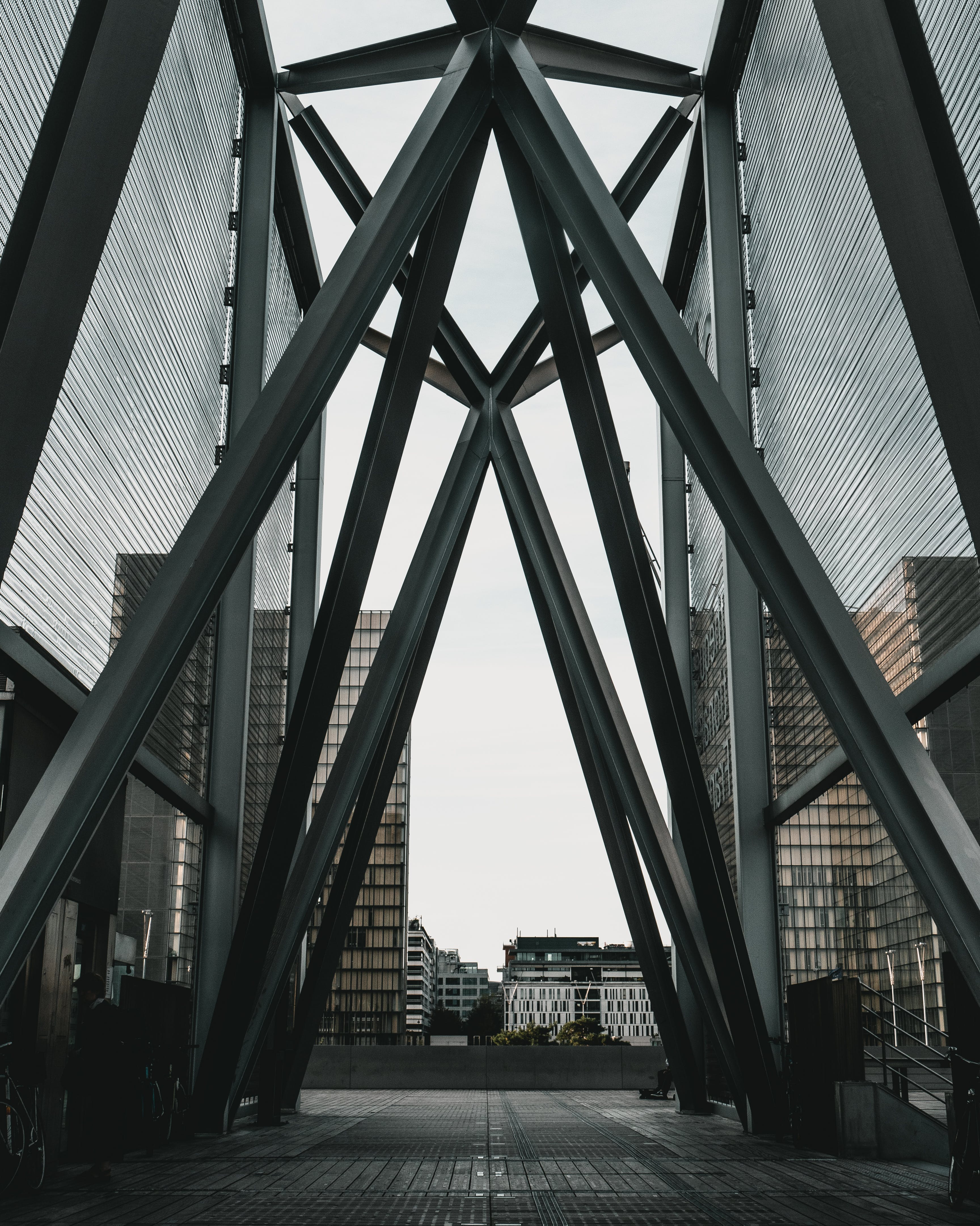 Black and Gray Metal Structure