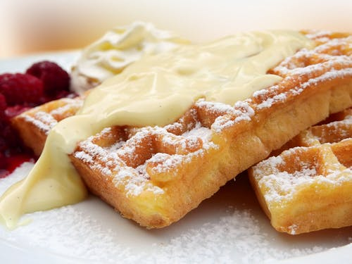 Waffles With Cream