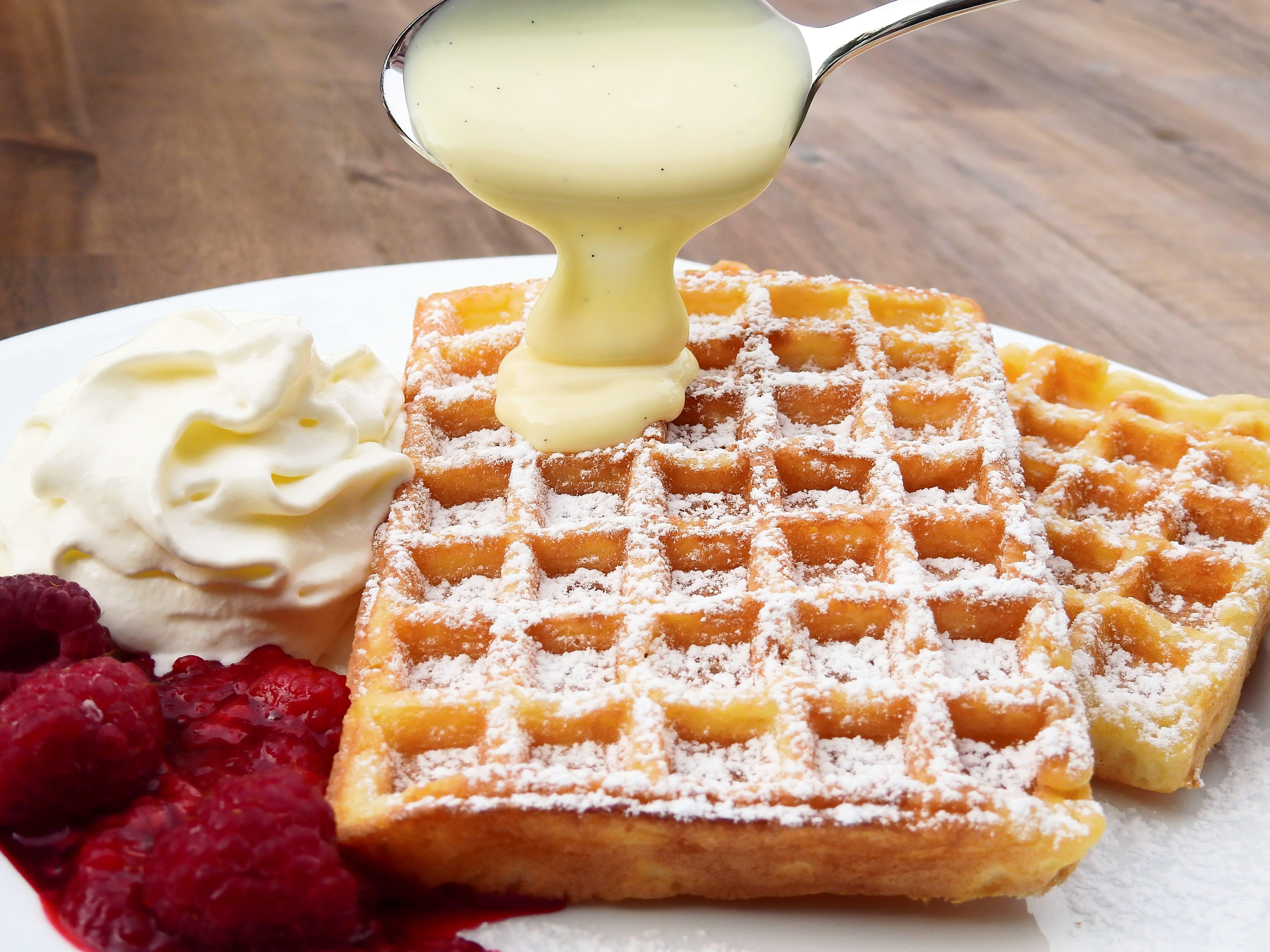 breakfast, close -up, cream