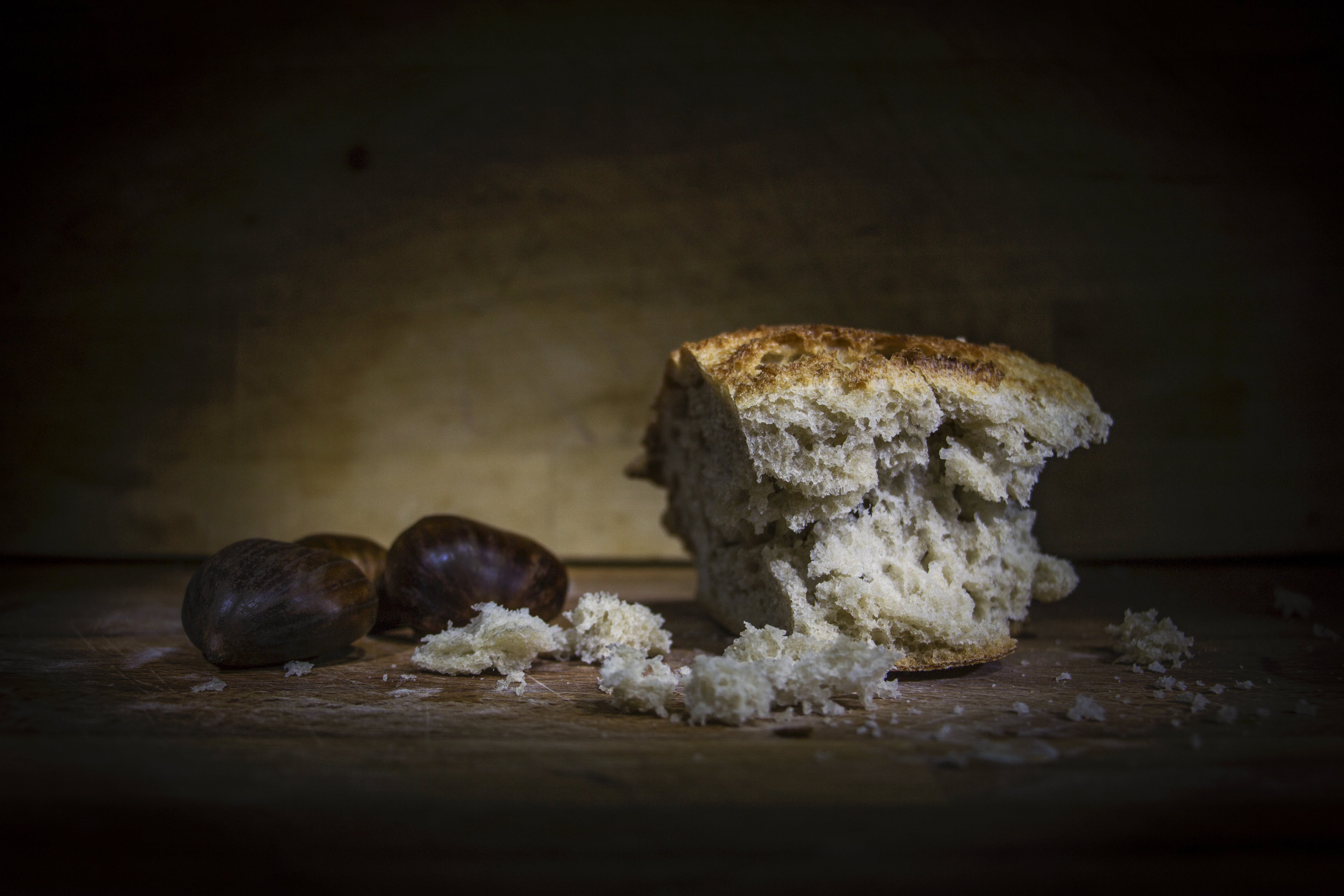 Baked Bread Above Wooden Surface