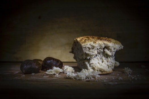 Free stock photo of bread, food, dark, blur