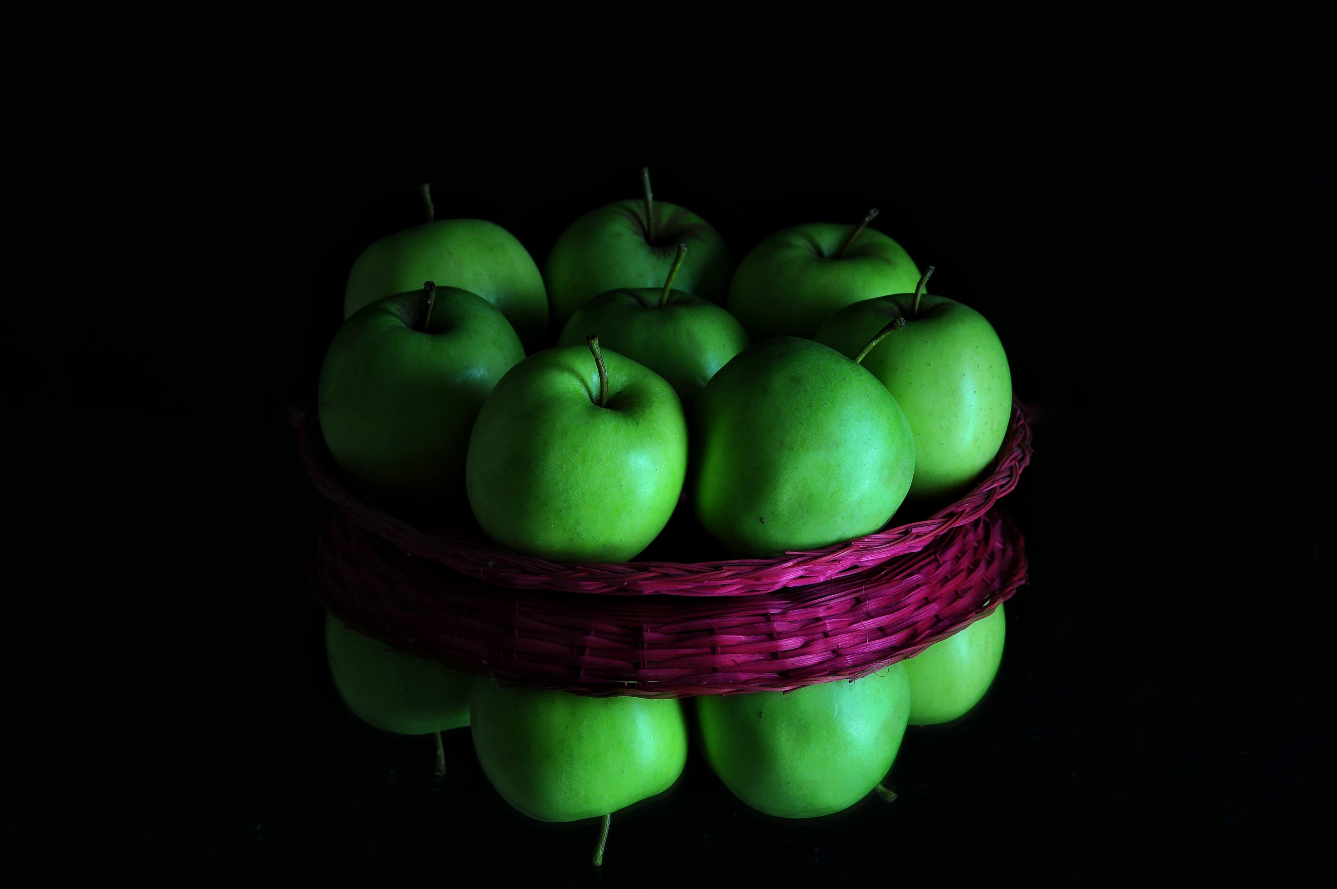 apple, apples, basket