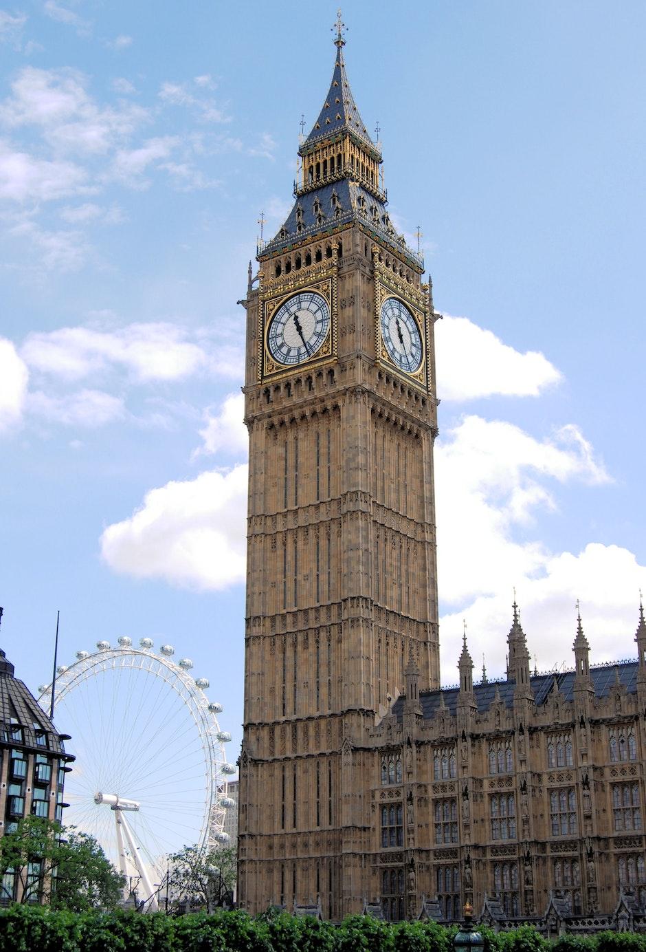 big ben, church, clock