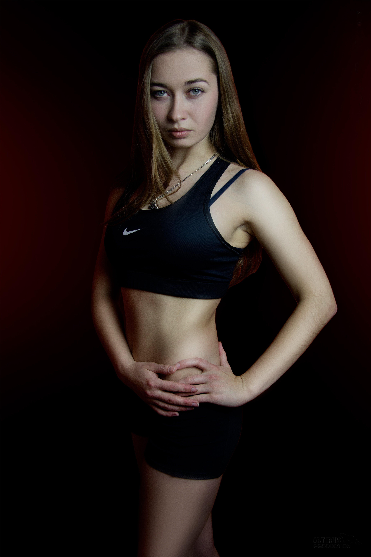 Woman in Black Nike Sports Bra