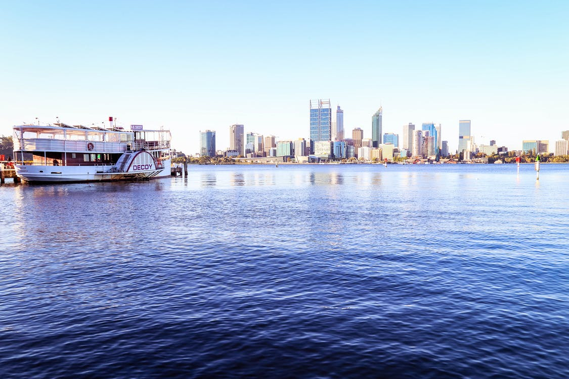australien, perth, skyline