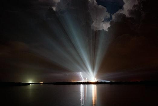 Free stock photo of night, water, clouds, dark