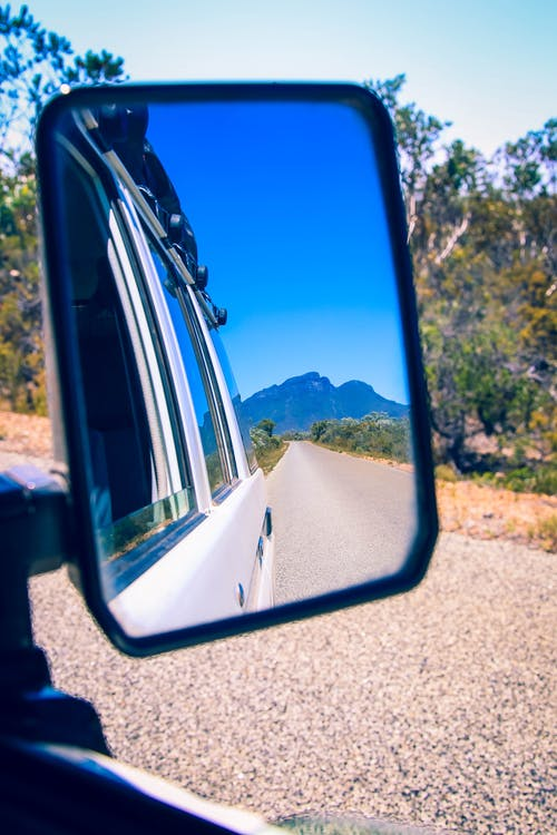 Free stock photo of driving, mountain range, rearview, road trip
