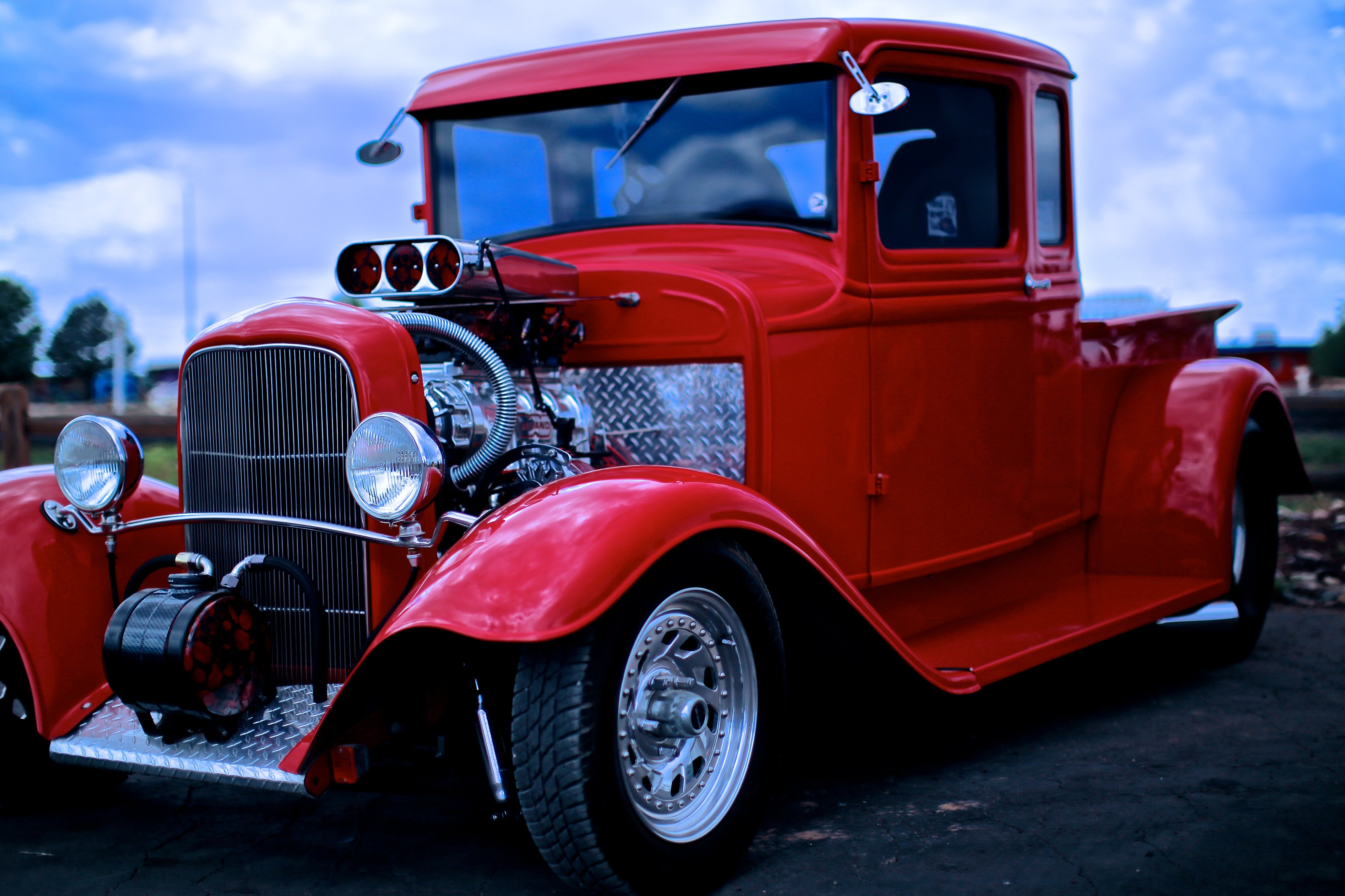Classic Red Ford Pickup Truck