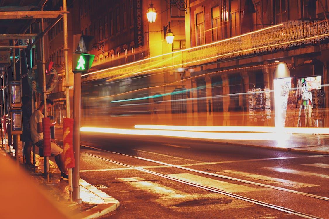alkonyat, autó, belváros