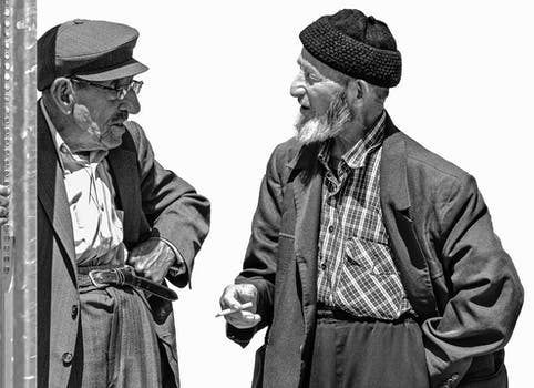 Free stock photo of black-and-white, man, people, old