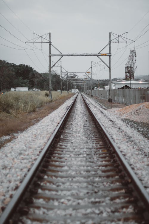 Brown Train Rails