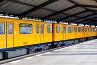 exit, train, yellow
