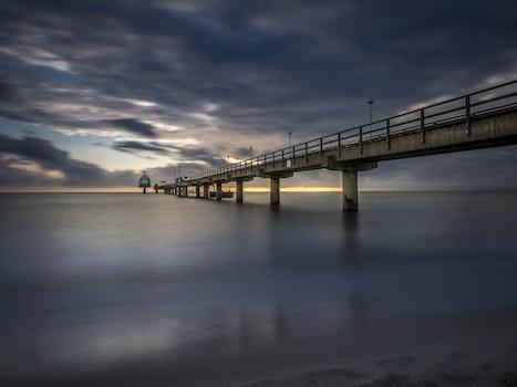 Concrete Under Gray Sky Bridge Long Exposure Photography