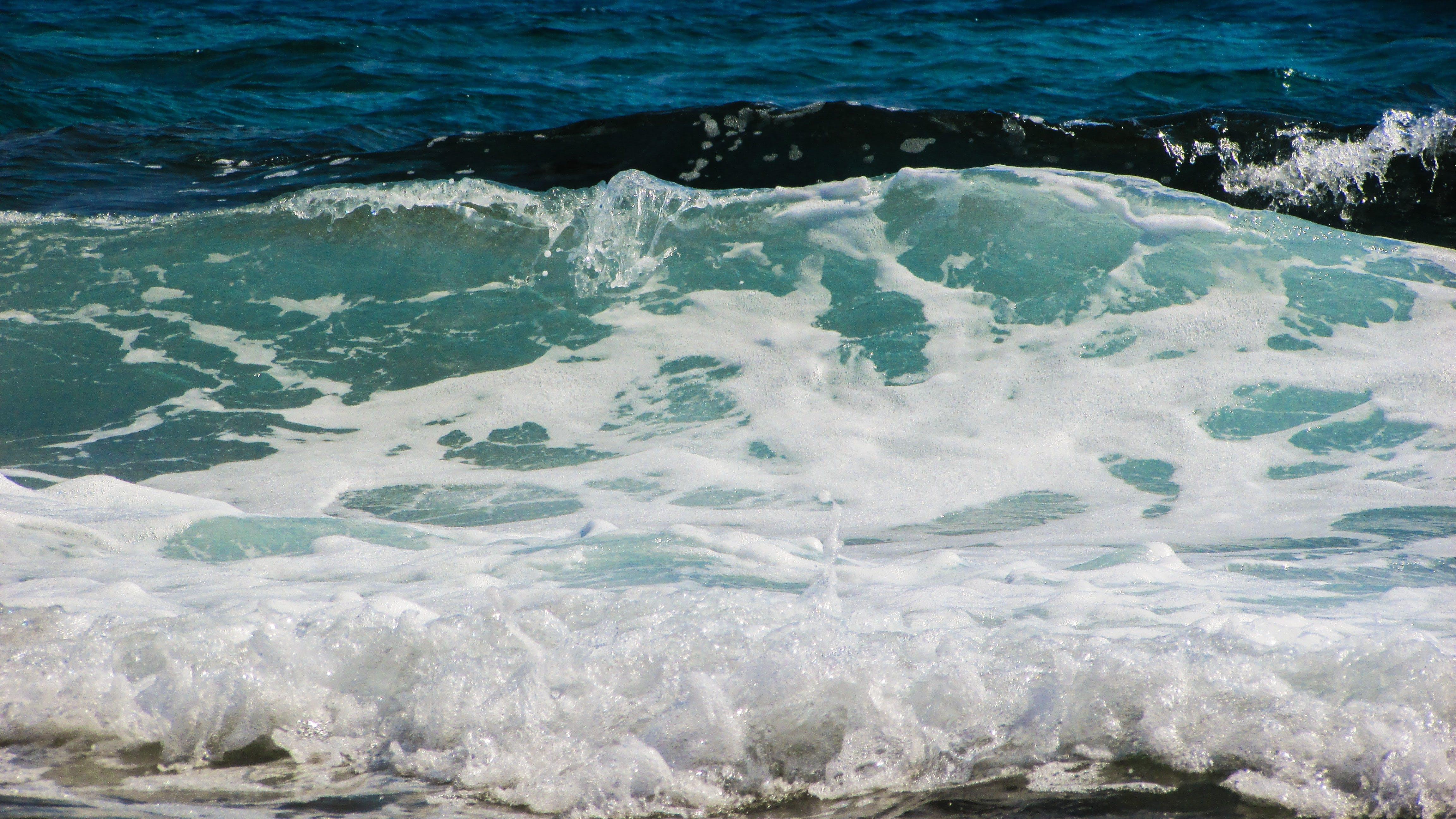 Free stock photo of beach, blue, energy, foam