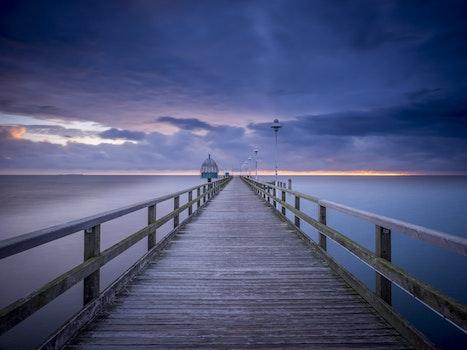 Free stock photo of sea, dawn, nature, sunset