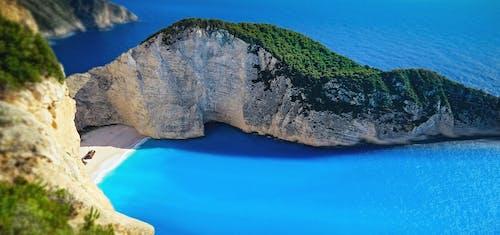 navagio, navagio海滩, 假期, 土耳其藍 的 免费素材照片