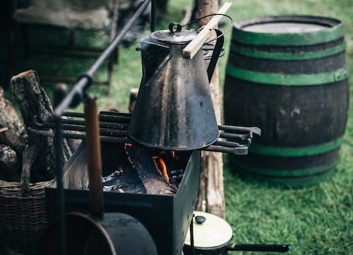 Základová fotografie zdarma na téma barel, buben, dřevěné uhlí, dřevo