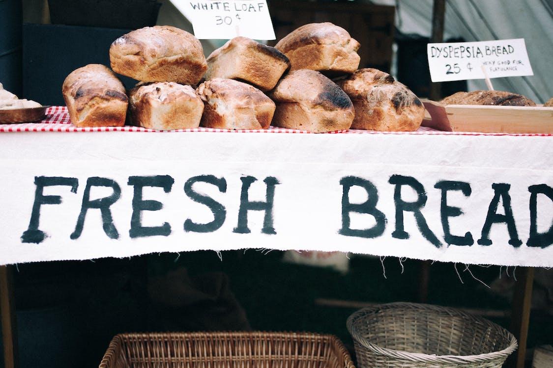 Fresh Bread on Tray