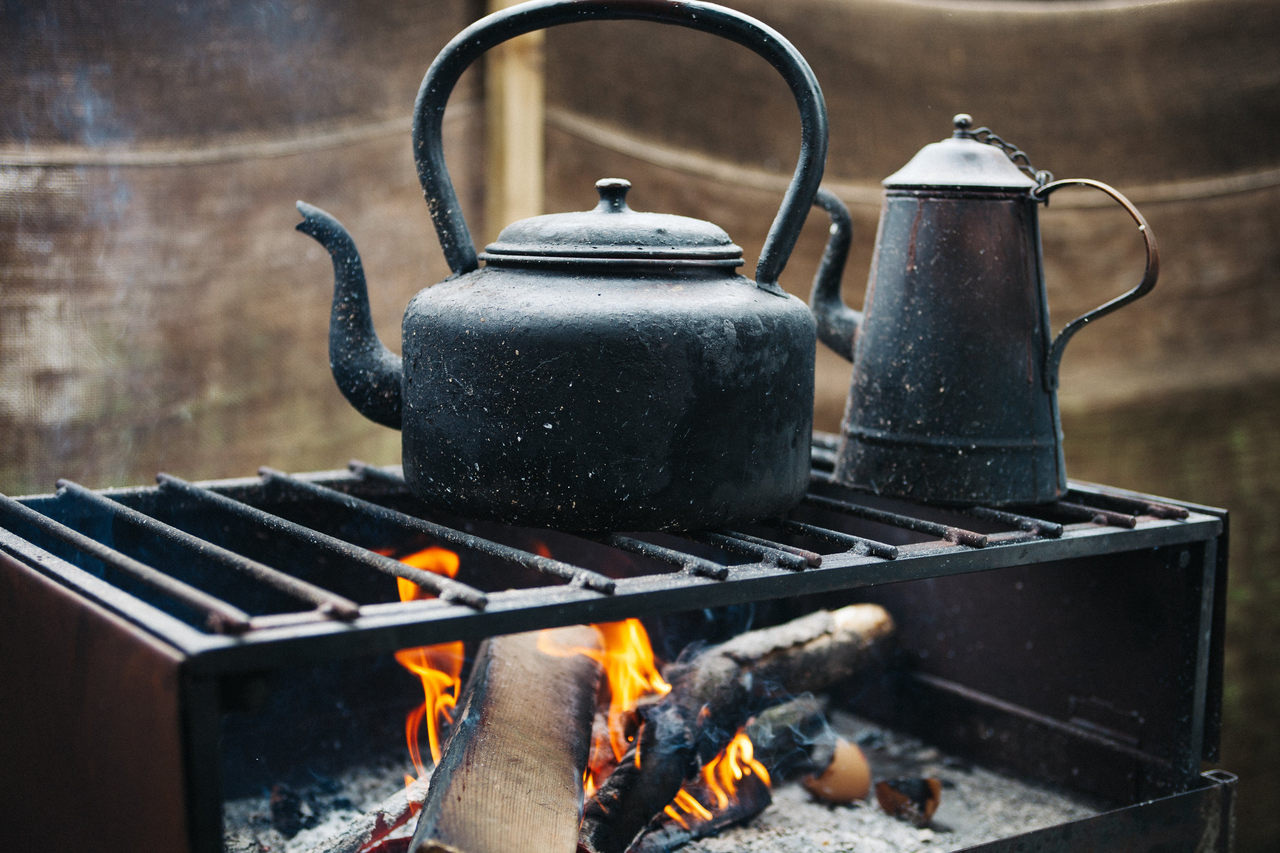 Black Kettle on Grill