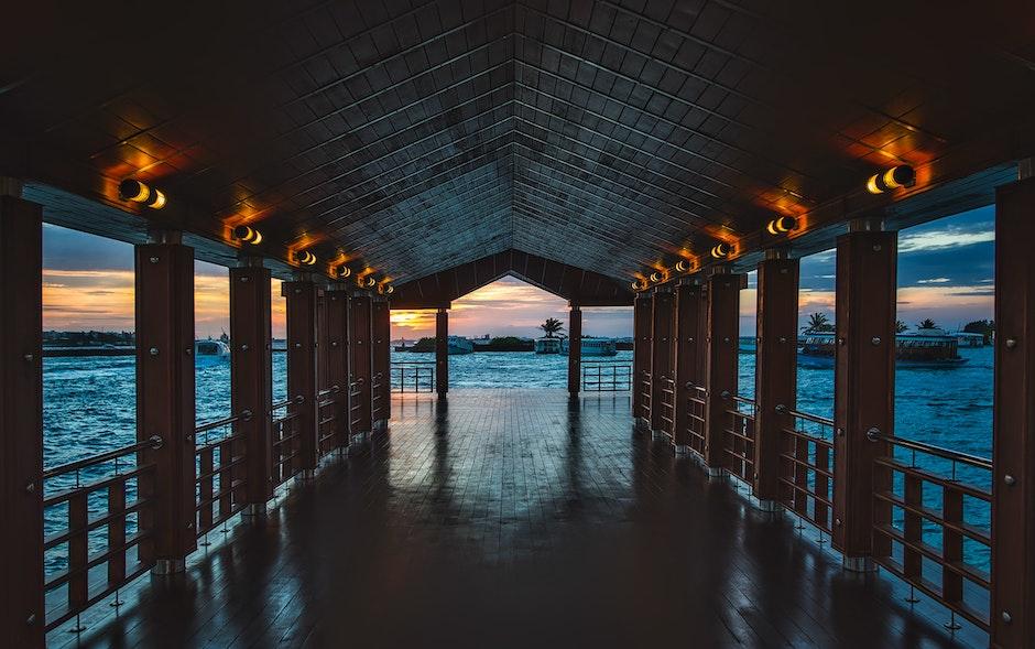 architecture, bay, beach