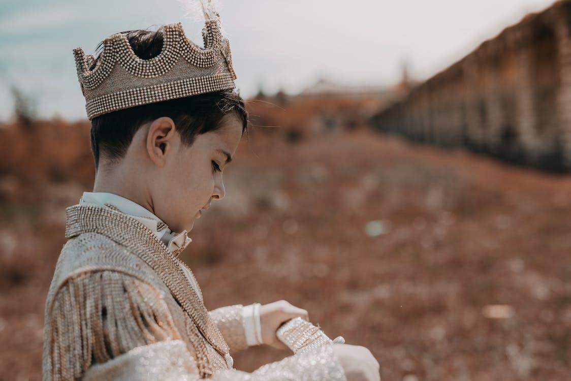 Boy Wearing A Prince Costume
