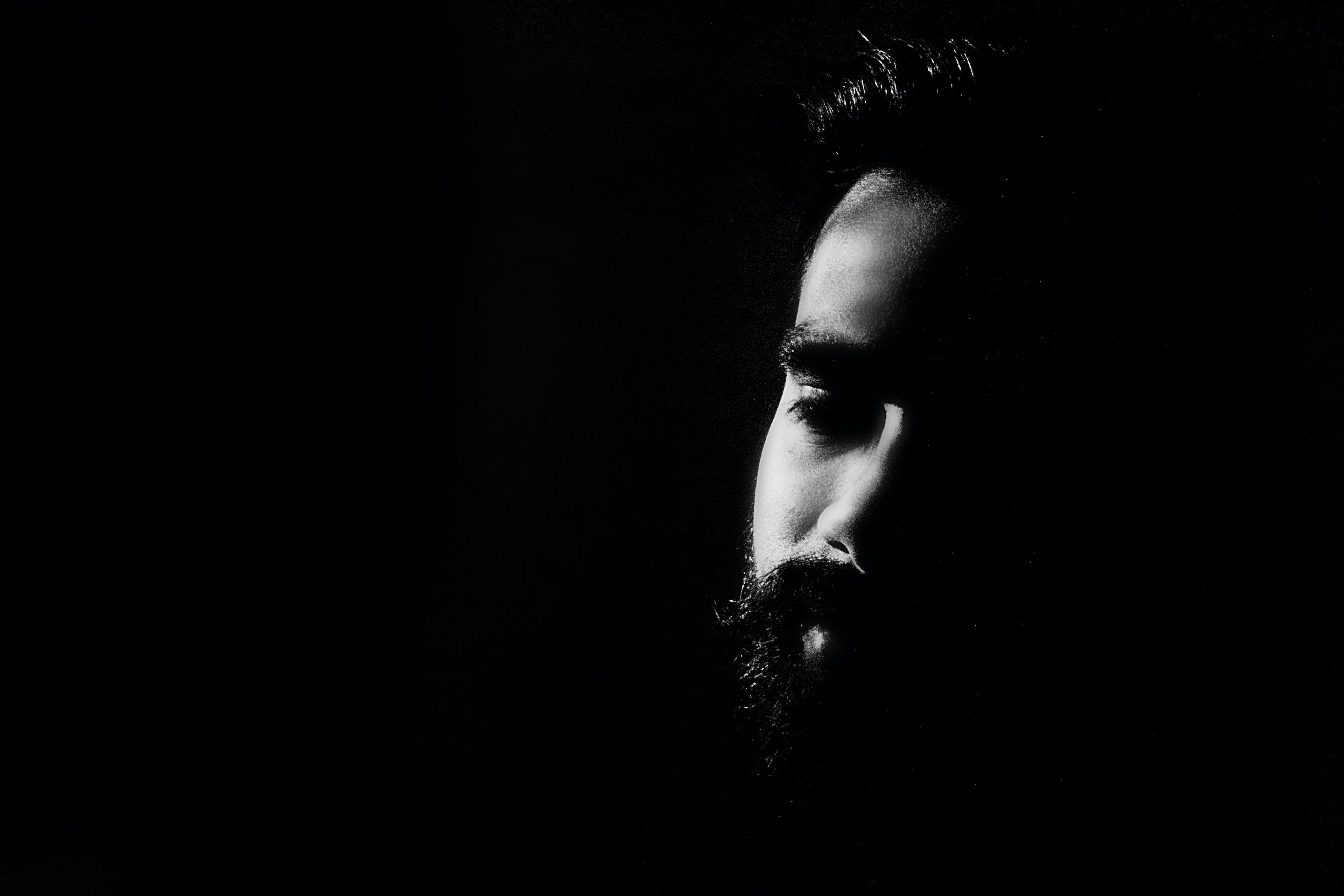 Man With Black Beard