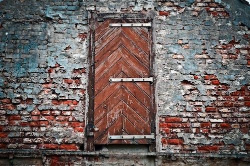คลังภาพถ่ายฟรี ของ กำแพงอิฐ, น่าขนลุก, ประตู, ผนัง